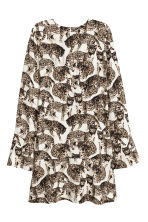 Patterned dress - Natural white/Cats - Ladies | H&M CN 2