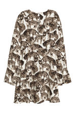 Patterned dress - Natural white/Cats - Ladies | H&M CN 3