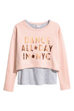 Sweatshirt with vest top - Powder pink - Kids | H&M CN 2