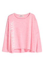 Oversized top - Pink marl - Kids | H&M CN 2