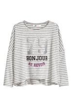 Oversized top - Grey/Striped - Kids | H&M CN 2