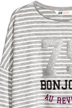 Oversized top - Grey/Striped - Kids | H&M CN 3