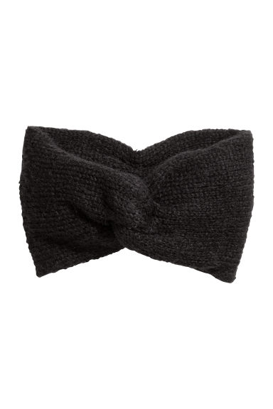 Mohair-blend knitted headband - Black - Ladies | H&M 1