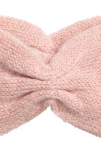 Mohair-blend knitted headband - Powder beige - Ladies | H&M CN 2