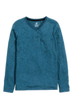 Long-sleeved T-shirt - Blue marl - Kids | H&M CN 2