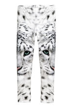 Patterned leggings - White/WWF - Kids | H&M CN 2