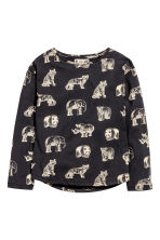 Printed jersey top - Black/WWF - Kids | H&M CN 2