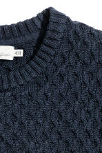 Jumper in a textured knit - Dark blue - Men | H&M CN 3