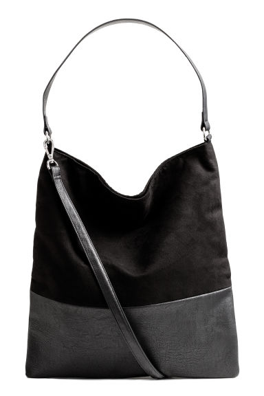 Shopper with a shoulder strap - Black - Ladies | H&M GB 1