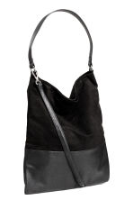 Shopper with a shoulder strap - Black - Ladies | H&M GB 2