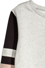 Sweatshirt - Grey marl/Pink - Ladies | H&M CN 3