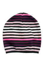 Striped hat - Black/Light pink - Kids | H&M CN 1
