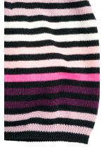 Striped hat - Black/Light pink - Kids | H&M CN 2
