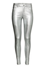 Stretch coated trousers - Silver - Ladies | H&M CN 2