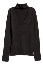 Top a lupetto in maglia fine - Nero - DONNA | H&M IT 2