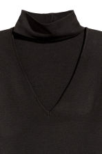 Top a lupetto in maglia fine - Nero - DONNA | H&M IT 4