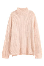 Chunky-knit turtleneck jumper - Powder marl -  | H&M GB 2