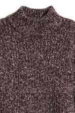 Chunky-knit turtleneck jumper - Dark purple marl - Ladies | H&M GB 3