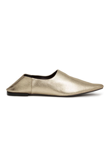 Slip-on loafers - Gold -  | H&M CN 1