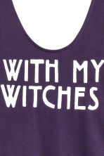 Printed body - Dark purple/Witch - Ladies | H&M GB 3