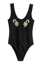 Printed body - Black/Candy cane - Ladies | H&M CN 2