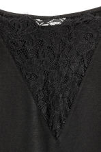 Top with lace detail - Black - Ladies | H&M GB 3