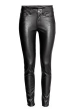 Imitation leather trousers - Black - Ladies | H&M CN 2