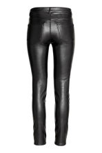 Imitation leather trousers - Black - Ladies | H&M CN 3