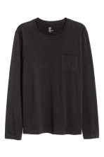 Long-sleeved T-shirt - Black -  | H&M CN 2