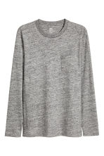 Long-sleeved T-shirt - Grey marl - Men | H&M CN 2