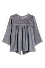 Blouse with lace details - Dark grey - Kids | H&M CN 2