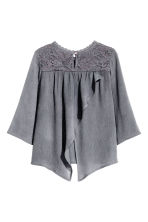 Blouse with lace details - Dark grey - Kids | H&M CN 3
