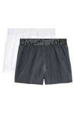 2-pack boxer shorts - White/Dark grey - Men | H&M CN 1