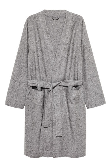 Nepped dressing gown - Grey marl - Men | H&M CN 1