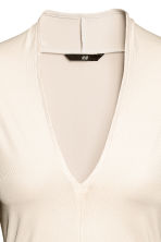 V-neck top - Light beige - Ladies | H&M CN 3