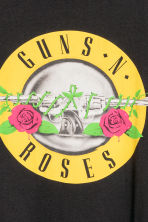 T-shirt with a print motif - Black/Guns N' Roses - Men | H&M CN 3