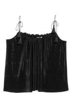H&M+ Pleated strappy top - Black - Ladies | H&M CN 2
