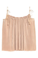 H&M+ Pleated strappy top - Light beige - Ladies | H&M CN 2