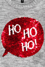 Christmas jumper with sequins - Grey marl - Ladies | H&M CN 4