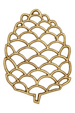 Metal trivet - Gold - Home All | H&M CN 1