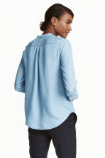 Lyocell blouse - Light denim blue - Ladies | H&M GB 4