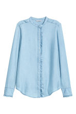 Lyocell blouse - Light denim blue - Ladies | H&M GB 2