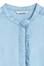 Lyocell blouse - Light denim blue - Ladies | H&M GB 5