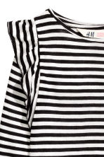 Frilled top - Black/White/Striped - Kids | H&M CN 3