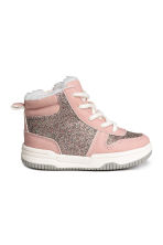 Pile-lined trainers - Light pink/Glittery - Kids | H&M CN 1