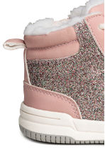 Pile-lined trainers - Light pink/Glittery - Kids | H&M CN 4