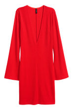 V-neck jersey dress - Red - Ladies | H&M CN 2