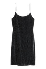Short strappy dress - Black/Silver - Ladies | H&M CN 2