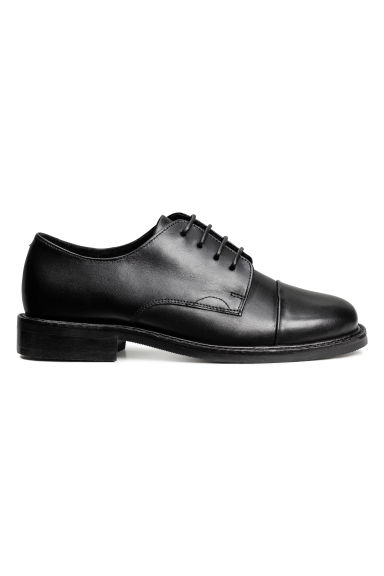 Leather Oxford shoes - Black - Kids | H&M CA 1