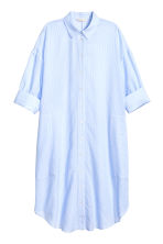 Cotton shirt dress - Light blue/Stripe - Ladies | H&M CN 2